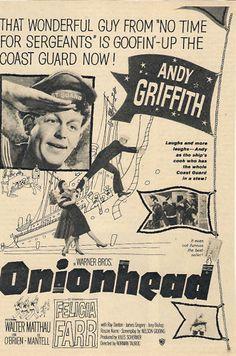 Original Magazine Advert Onionhead Andy Griffith Felicia Farr Walter Matthau | eBay