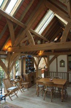 Oak frame Barn house in Devon