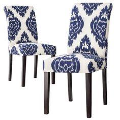 Avington Dining Chair Blue Diamonds - Set of 2 for $150