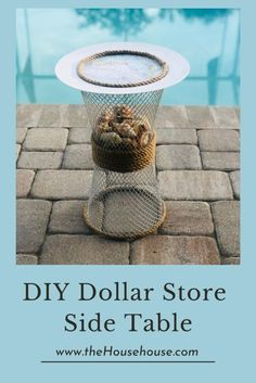 DIY Dollar Store Side Table - the House house