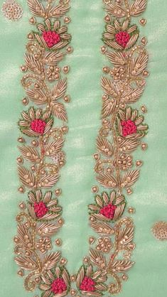 Hand embroidery on punjabi suit ping me 9895473878 Embroidery Suits Punjabi, Zardosi Embroidery, Hand Embroidery Dress, Kurti Embroidery Design, Indian Embroidery, Embroidery Fashion, Hand Embroidery Designs, Beaded Embroidery, Hand Work Design
