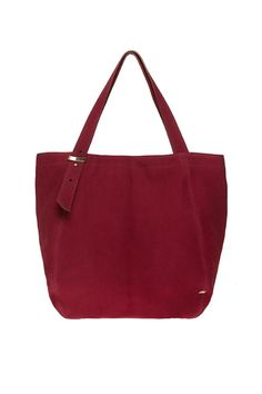 """Our exclusive SJP Collection by Sarah Jessica Parker tote is the perfect everyday tote in a beautiful berry suede. Features include dual shoulder straps and magnetic snap closure with signature grosgrain lining and interior back zipper pocket and slip pocket. This bag has a flat base with grosgrain accent on bottom corner. SJP dust bag included.  Measures: 12"""" W x 8"""" D x 13"""" H; 25"""" strap length; 8"""" strap drop  Bank Suede Tote by SJP Collection by Sarah Jessica Parker. Bags - Contemporary…"""