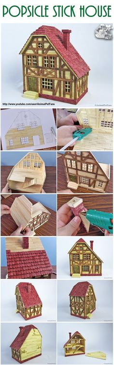 Popsicle stick house for hamster - Building a toothpick house in the style . for toddlers room ideas stick crafts crafts Popsicle stick house for hamster - Building a toothpick house in the style . for toddlers room ideas stick crafts crafts Popsicle Stick Crafts For Adults, Popsicle Stick Houses, Popsicle Crafts, Craft Stick Crafts, Crafts To Do, Diy Craft Projects, Home Crafts, Diy Crafts, Resin Crafts