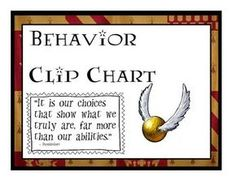 Harry Potter Themed Behavior Clip Chart