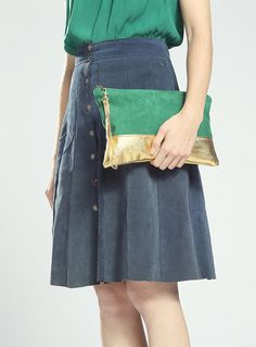 The Belinda Clutch ///// Emerald Green Clutch. by gracedesign