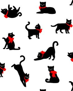 BY THE YARD Feline Drive Cat Fabric White Meow /& Forever Cat Faces