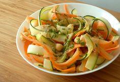 Salada de grão-de-bico, courgette e cenoura com molho de tahini / Chickpea, zucchini and carrot salad with tahini sauce « Compassionate and Passionate Cuisine