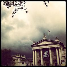 Ominous clouds over the Tate Britain museum in London