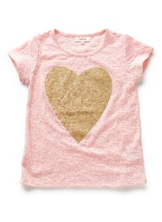 {perfect and sweet} pink and gold girl's t-shirt..would love these for my girls' birthday celebration.. xo