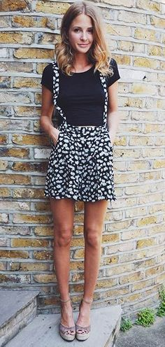 pinafore dress. summer style. cute outfit. prints.