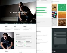 This is a great free psd theme to get your resume online