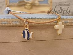 Picture of Μαρτυρικά βάπτισης αγοράκι ψαράκι Baby Boy Baptism, Christening, Crochet Necklace, Bracelets, Gold, Handmade, Baptisms, Lovely Things, Jewelry