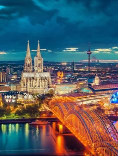 Cologne, Germany: bones of the 3 Wise Men are inside this cathedral. Also where cologne originated. They still sell the original formula there!