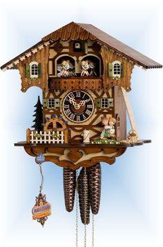 Hones First Kiss cuckoo clock 11'' - Bavarian Clockworks