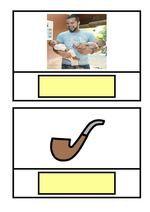 Material per treballar la lectura mitjançant l'associació paraula-imatge a través d'uns cartronets amb paraules i imatges que contenen les grafies M-P-L-S-T. Treballa la lectura paraules molt senzilles d'una i dues síl·labes per treballar amb alumnes que s'inicien en el procés de la lectura i l'escriptura i/o bé alumnes amb dificultats.