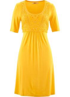 Commandez maintenant Robe à empiècement dentelle, demi-manches jaune soleil - bpc bonprix collection à partir de 24,99 ? sur bonprix.fr. Couture ...