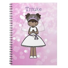 Personalised First Communion Day Notebook - girl gifts special unique diy gift idea Communion Gifts, First Holy Communion, Cute Little Girls, Girl Gifts, Holi, Prayers, Notebook, Presents, Diy