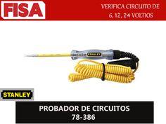 PROBADOR DE CIRCUITOS 78-386. Verifica circuito de 6, 12, y 24 voltios- FERRETERIA INDUSTRIAL -FISA S.A.S Carrera 25 # 17 - 64 Teléfono: 201 05 55 www.fisa.com.co/ Twitter:@FISA_Colombia Facebook: Ferreteria Industrial FISA Colombia