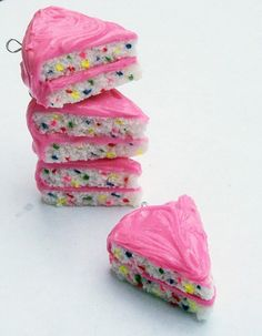 I wanna wear it and eat it, lol so sad :)    Funfetti Cake Charm by ScrumptiousDoodle on Etsy, $7.25