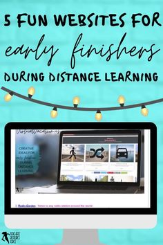 What do you do when your students have finished their distance learning tasks? Remote learning can be challenging as you try to ensure all your students are learning, progressing and occupied. It can be difficult to find suitable and fun virtual learning activities to issue as extension work for your early finishers. Keep reading to learn 5 creative ideas for your early finishers during a distance, hybrid or blended learning classroom! Free Teaching Resources, School Resources, Learning Activities, Teaching Ideas, Teacher Blogs, New Teachers, School Direct, High School Classroom, Technology Integration