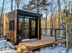 Off Grid Tiny House, Off Grid Cabin, Tiny House Cabin, Tiny House On Wheels, Cabin Homes, Tiny Cabin Plans, Tiny Cabins, Cabins And Cottages, Modular Cabins