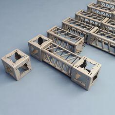 3D printer construction truss | steel truss 3d model - Steel Truss collection... by 3d_molier
