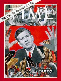 NEW YORK: THE BREAKDOWN OF A CITY - Mayor John Lindsay -- TIME; Nov. 1, 1968.