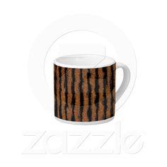Tiger Stripes Fractal Espresso Mug