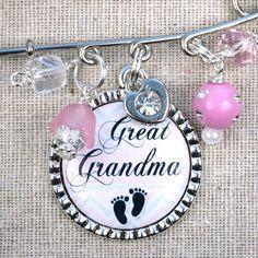 Great Grandma Pin Grandma To Be PERSONALIZED by ScrapheartGifts