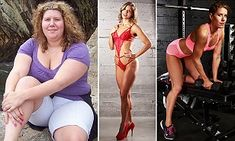 Donna Gillie, 30, from Nova Scotia, Canada, weighed 230lb at her heaviest but transformed her body after taking up exercise and cutting down on her sweet 'trigger' foods.