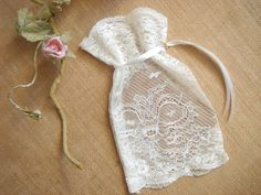 Ivory Favor BagsBaby Shower Favor Baby Christening by accessory8