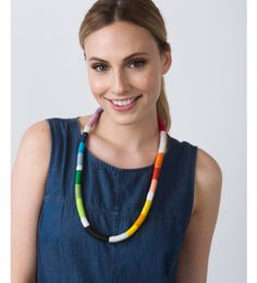 Bo-Kapp Rope Necklace - Inspired by the colorful neighborhood of Cape Town. Handmade by artisans in South Africa. Ethically sourced. Provides 12 children with lifesaving vaccinations.