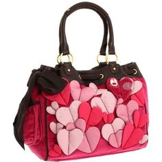 Juicy Couture 3D Heart Velour Day Dreamer Tote