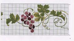 ♥Meus Gráficos De Ponto Cruz♥: Uvas e Vinhos em Ponto Cruz para Almofadas e…