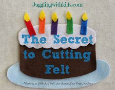 Juggling With Kids: The Secret to Cutting Felt & Making Felt Storyboards for Preschoolers - Felt Board Flannel Board Stories, Felt Board Stories, Felt Stories, Flannel Boards, Sewing Hacks, Sewing Projects, Craft Projects, Felt Projects, Sewing Ideas
