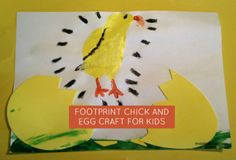 Footprint Chick and Egg Hatching Craft for Kids | momstown National