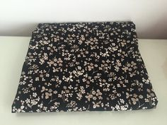Black Floral Cotton Fabric / 2m x 110cm wide by stylesixties