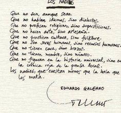 Los Nadie. Eduardo Galeano