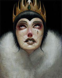 ☆ The Evil Queen from Snow White :¦: Artist Steven Daily ☆ Dark Disney, Disney Love, Disney Magic, Disney Art, Disney Stuff, Disney Girls, Snow White Evil Queen, Snow Queen, Illustration