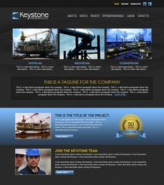 Oil and Gas Industry website design - LightMix | Corporate website ...