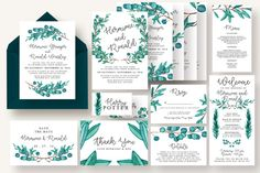 Eucalyptus Wedding Suite Vol.4 by Knotted Design on @creativemarket
