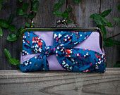 Lavender Clutch with knot detail