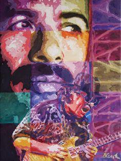 """Santana: Acrylic on canvas, 18""""x24"""". Original available."""