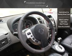 Shining wheat Hand-stitched Black Leather Steering Wheel Cover for Old Nissan Tiida Livina Sylphy NoteUSD 21.15/pieceShining wheat Hand-stitched Black Leather Steering Wheel Cover for Nissan QASHQAI X-Trail NV200 RogueUSD 21.15/pieceShining wheat Leather Steering Wheel Cover for for Nissan Almera N16 Pathfinder Primera Paladin Old X-Trail XTrail 2001-2006USD 21.