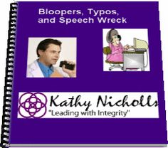 E-book for medical transcriptionists - Bloopers, Typos and Speech Wreck - Kathy Nicolls