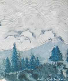 """September"" by Cindy Seitz-Krug.  Featured artist, 2016 AQS QuiltWeek (Phoenix).  Closeup photo by Quilt Inspiration."