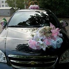 One of the best 2013 collection of Wedding Car Flower Decoration Gallery from Bridal Requirements Collection. Wedding Car Decorations, Flower Decorations, Wedding Cars, Wedding Stuff, Wedding Trends, Wedding Designs, Wedding Ideas, Wedding Details, Wedding Reception