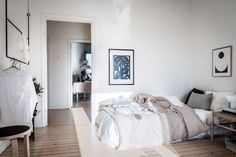 my scandinavian home: bedroom in A Small Swedish Space Bathed in Sunlight