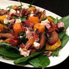 Arugula Salad with Bacon and Butternut Squash - Allrecipes.com