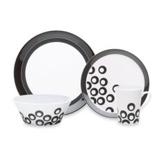 Mikasa® Circle Chic Black Dinnerware - BedBathandBeyond.com